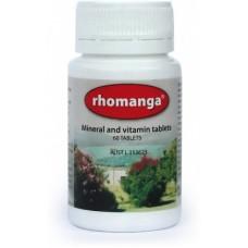 Rhomanga: Mineral & Vitamin Tablets 60 tabs, Based  on Percy Weston original formula